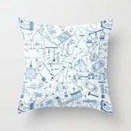 School Chemical #4 Throw Pillow