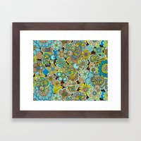 welcome birds to...(brown).  Framed Art Print