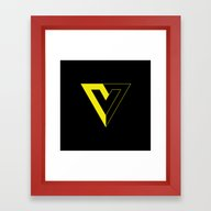 V For Voluntaryism Framed Art Print
