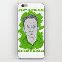 Compulsive Liar, Punching Bag, Anti-Hero:  Benjamin Linus iPhone & iPod Skin