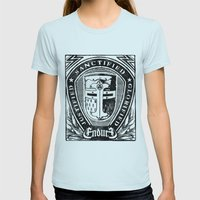 JUSTIFIED CRUSADER Womens Fitted Tee Light Blue SMALL