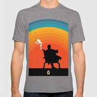 The Illusive Man Mens Fitted Tee Tri-Grey SMALL