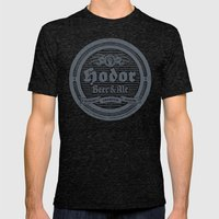 Hodor Premium Mens Fitted Tee Tri-Black SMALL