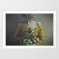 the gathering green Art Print