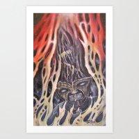 Hothead Art Print