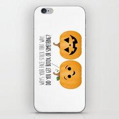 Pumpkin Botox iPhone & iPod Skin