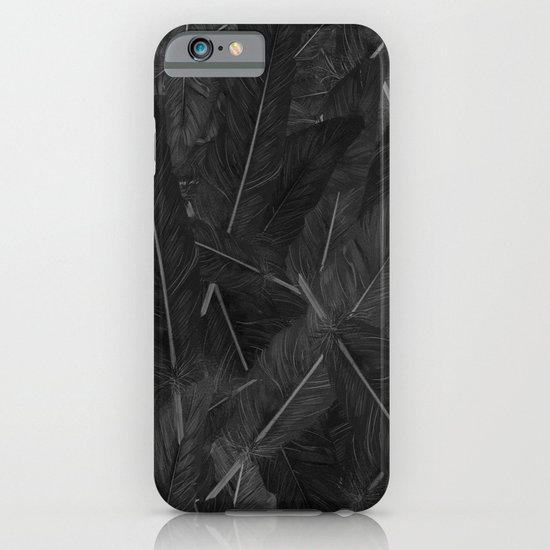 Feathered (Black). iPhone & iPod Case
