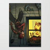 Peepin' Peter Canvas Print