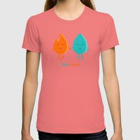 Best Friend Womens Fitted Tee Pomegranate SMALL