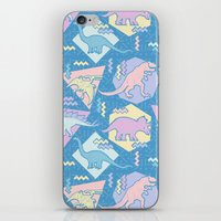 Nineties Dinosaurs Pattern  - Pastel version iPhone & iPod Skin
