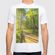 Morning Sun In The Park Mens Fitted Tee Ash Grey SMALL