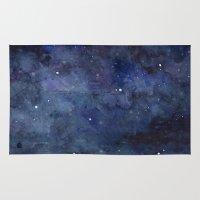 Night Sky Stars Galaxy  … Rug