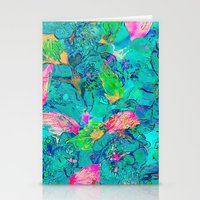 Lake Flowers Fantasy Stationery Cards