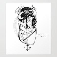 plumb line Art Print