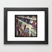 The Record Store (An Ins… Framed Art Print