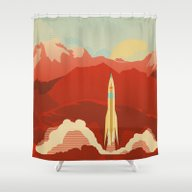 Shower Curtain featuring The Uncharted by The Art Of Danny Haa…