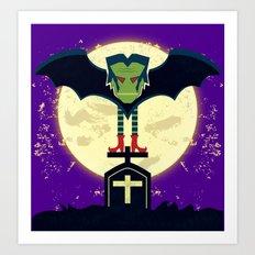Dead Night Vampire Art Print