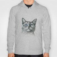 Cross Eyed Cat G122 Hoody