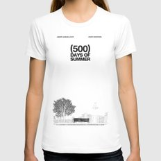 (500) Days of Summer Womens Fitted Tee White SMALL