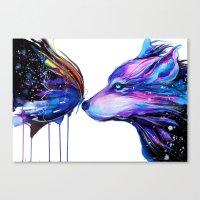 -Two galaxies- Canvas Print