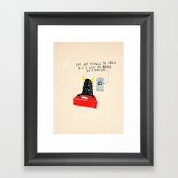 Silly Rhyme Doodles  Framed Art Print