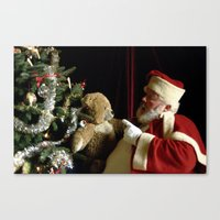 Teddy Talk Canvas Print