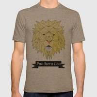 Panthera Leo Mens Fitted Tee Tri-Coffee SMALL
