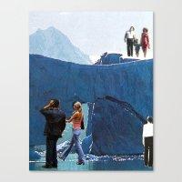 Walking On Ice Canvas Print