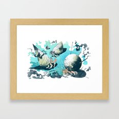 Keeping Up With The Crabs Framed Art Print