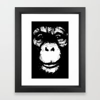 Everything's More Fun With Monkeys! Framed Art Print
