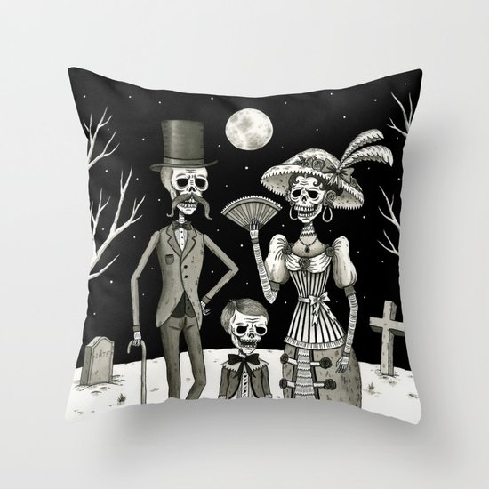 Family Portrait of the Passed Throw Pillow