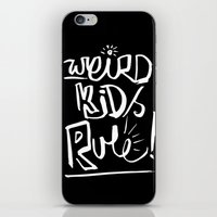 Weird Kids Rule iPhone & iPod Skin