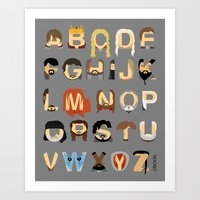 Game Of Thrones Alphabet Art Print