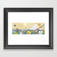 Clovis Bailing The Water… Framed Art Print