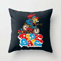 Ride Safe Throw Pillow