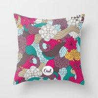 out mini garden Throw Pillow