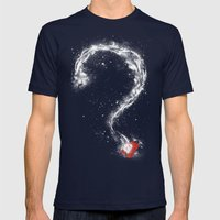 Inspector Spacetime Mens Fitted Tee Navy SMALL