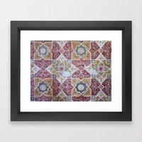 Geometric Wall Pattern Framed Art Print