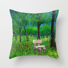 Sit with me  Throw Pillow