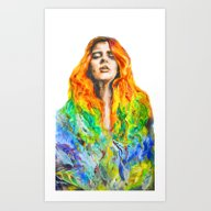 Art Print featuring Sophie by Amandine