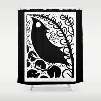 Doodlebird Print Shower Curtain