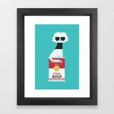 Mark The cat who Loves Andy Framed Art Print