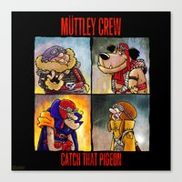 Muttley Crew : Catch that Pigeon  Canvas Print