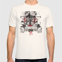 Zombie Mens Fitted Tee Natural SMALL