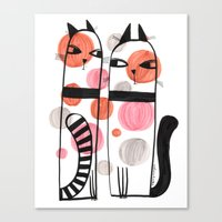SPOTTED CATS Canvas Print
