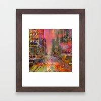 traffic jam pink Framed Art Print