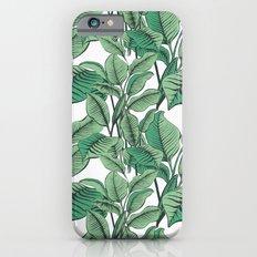 Exotic Tropical Banana Palm Leaf Print iPhone 6 Slim Case
