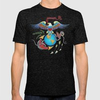Eagle Globe & Anchor Mens Fitted Tee Tri-Black SMALL