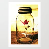 three in the jar Art Print