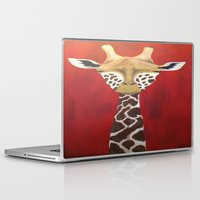 giraffe Laptop & iPad Skins featuring Giraffe by McNallieGalleries